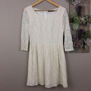 NWT Kensie Dress 8 Ivory Lace Knee Length